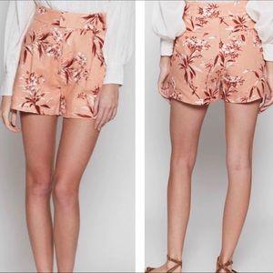 Joie Farron 100% Linen Print Shorts